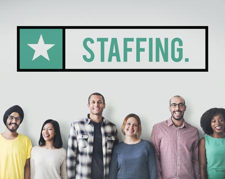 55178192 - staffing employee human resources manpower concept